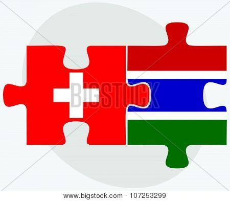 Switzerland And Gambia Flags