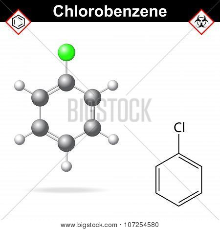 Chlorobenzene Chemical Formula And Model