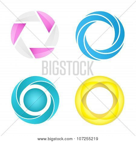 Four Segmented Circles In Different Styles