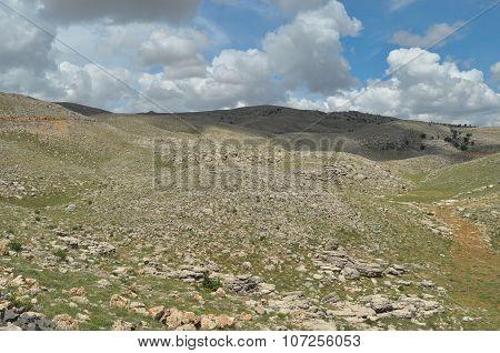 Nemrut Dagi. Mountains on the background of sky.