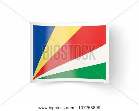 Bent Icon With Flag Of Seychelles