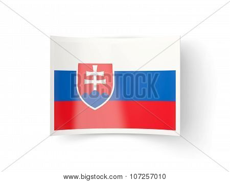 Bent Icon With Flag Of Slovakia