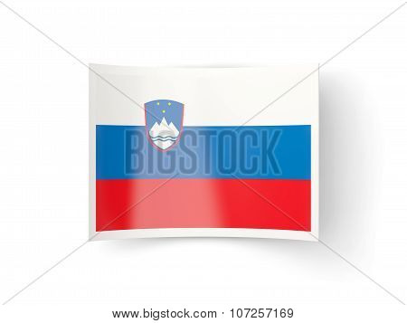 Bent Icon With Flag Of Slovenia