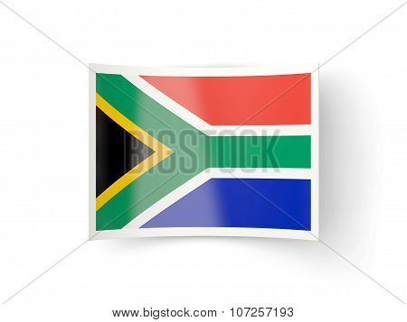 Bent Icon With Flag Of South Africa