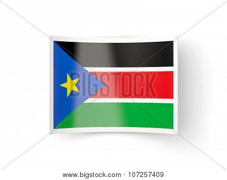 Bent Icon With Flag Of South Sudan