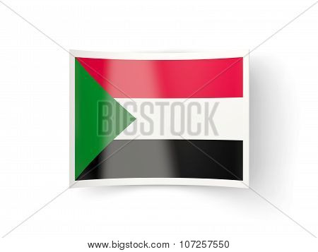 Bent Icon With Flag Of Sudan