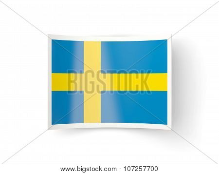 Bent Icon With Flag Of Sweden