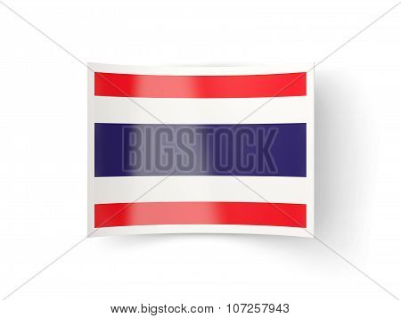 Bent Icon With Flag Of Thailand