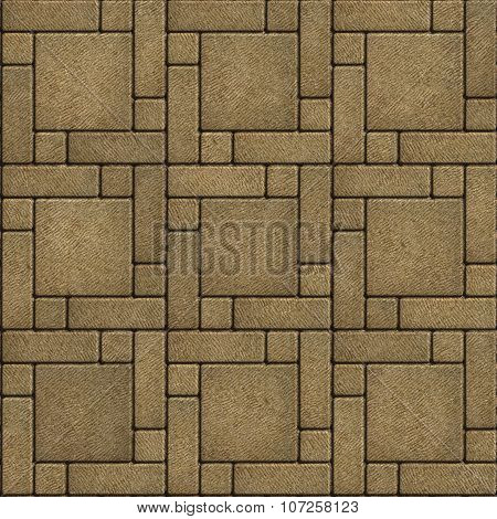 Sand Color Paving Slabs in the form of big Square..