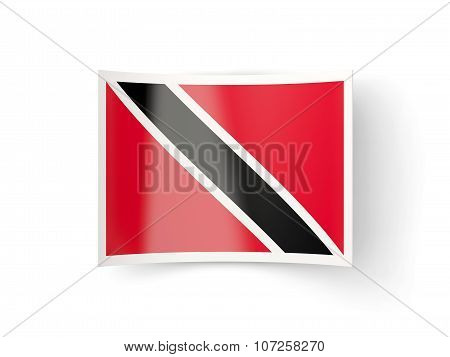 Bent Icon With Flag Of Trinidad And Tobago