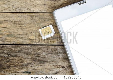 Smart Phone Use With Micro Sim Card, White Screen