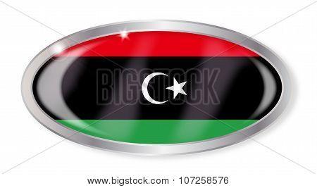 Libya Flag Oval Button