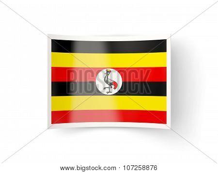 Bent Icon With Flag Of Uganda