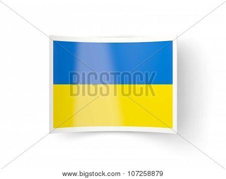 Bent Icon With Flag Of Ukraine