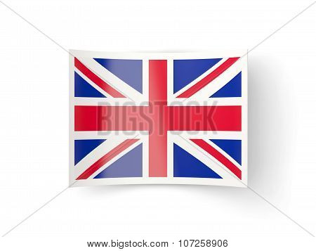 Bent Icon With Flag Of United Kingdom
