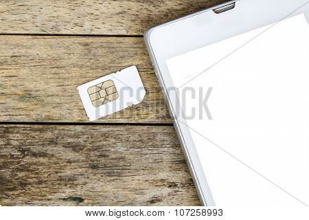 smart phone use with micro sim card white screen