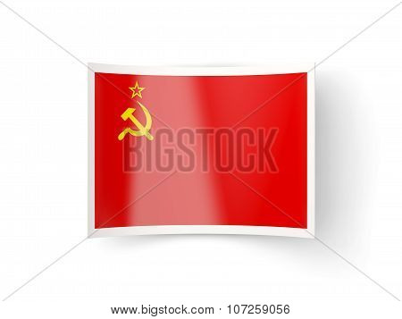Bent Icon With Flag Of Ussr