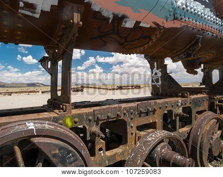 Train Cemetery in Uyuni, Bolivian