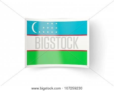 Bent Icon With Flag Of Uzbekistan