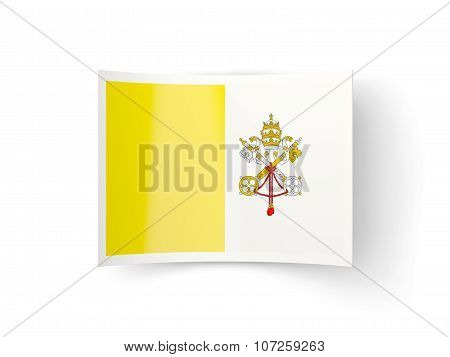 Bent Icon With Flag Of Vatican City