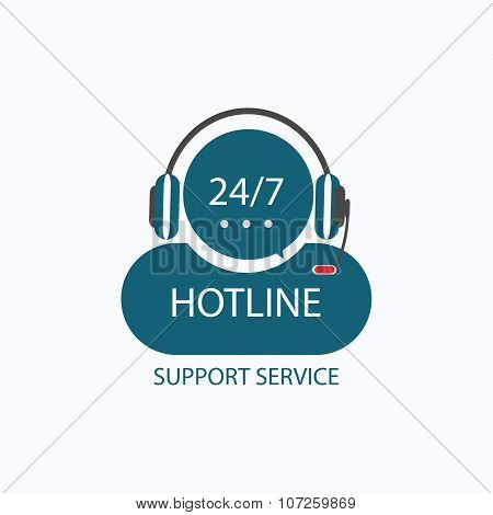Hotline Support Icon.