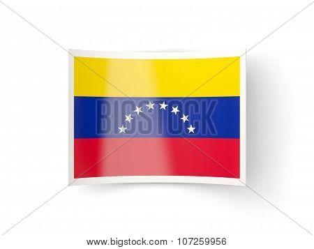 Bent Icon With Flag Of Venezuela