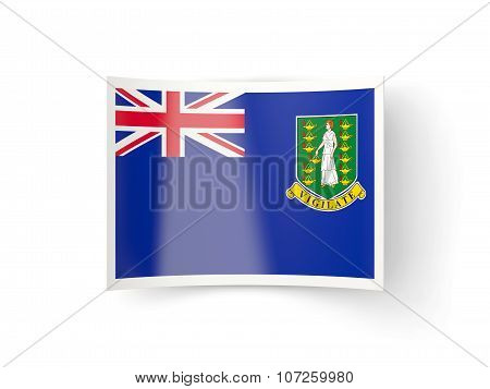 Bent Icon With Flag Of Virgin Islands British