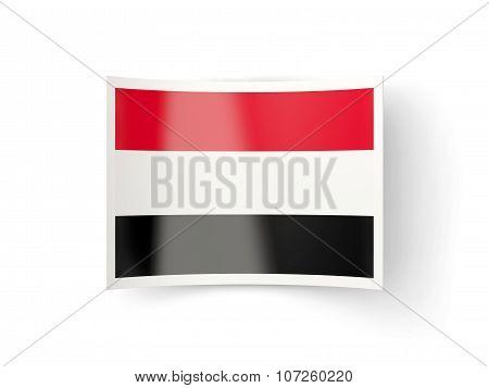 Bent Icon With Flag Of Yemen