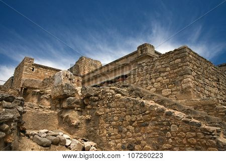 Ruins of ancient king's palace, Knossos, Crete, Greece
