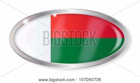 Madagascar Flag Oval Button