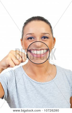 Funny Woman With Big Smile