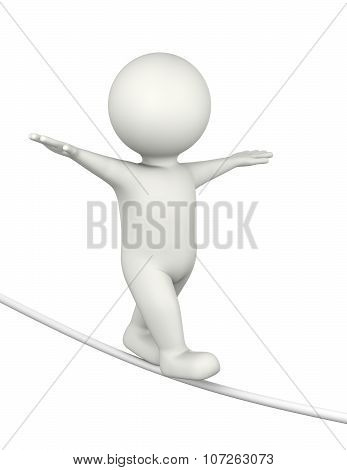 Tightrope Walker 3D Character