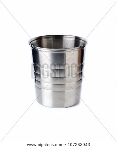 Empty Wine And Champagne Bucket On White Background