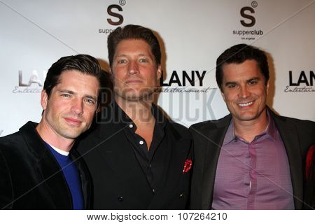 LOS ANGELES - DEC 4:  Scott Bailey, Sean Kanan, Rick Hearst at the
