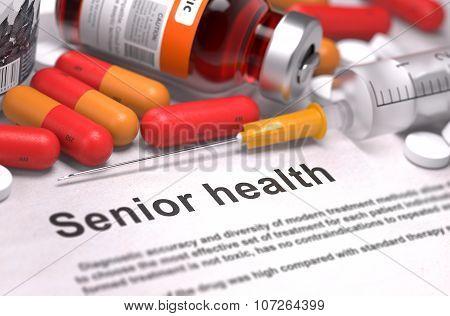 Senior Health - Medical Concept. 3D Render.