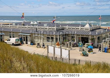 Facade Of Beach Pavilion Thalassa In Zandvoort, The Netherlands