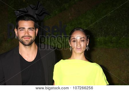 LOS ANGELES - MAY 2:  Jesse Metcalfe, Cara Santana at the Jaguar North America and Britweek Present