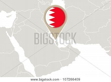 Bahrain On World Map