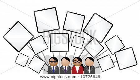Cartel en blanco