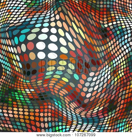 Abstract halftone dotted background of multicolored spots