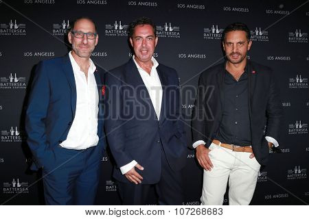 LOS ANGELES - NOV 6:  Mauricio Umansky, Billy Rose, Rob Tincknell at the Battersea Power Station Global Launch Party at the The London on November 6, 2014 in West Hollywood, CA