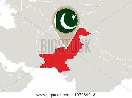 Pakistan On World Map