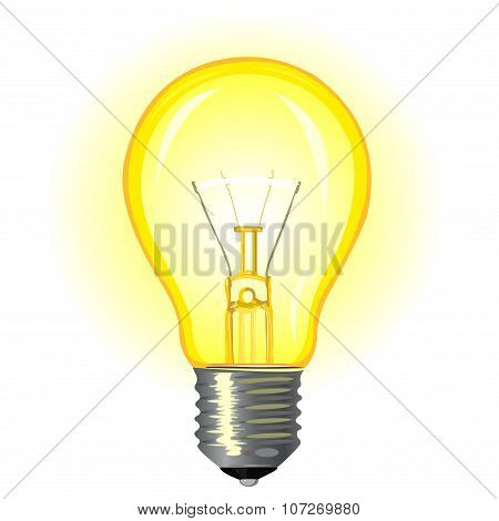 Bright Glowing Incandescent Light
