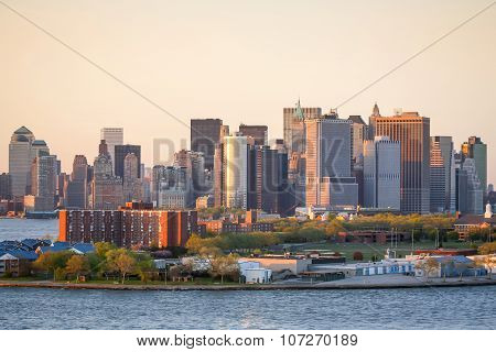 Manhattan Financial District And Governors Island