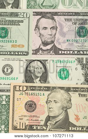 Usa Dollar Money Banknotes Background