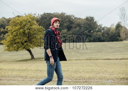 Cool Boy On Country Road
