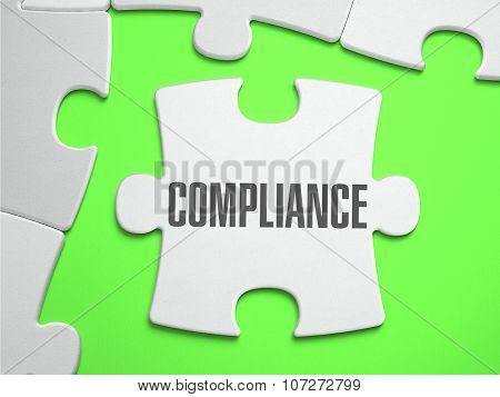 Compliance - Jigsaw Puzzle with Missing Pieces.