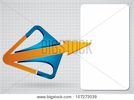 Template With Arrows And Copy Space Area