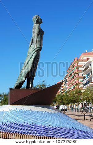 Mediterranea statue, Fuengirola.