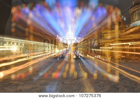 carousel on exposure at night